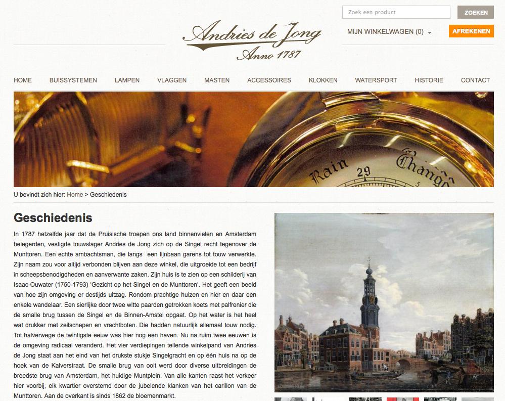 Andries de Jong website