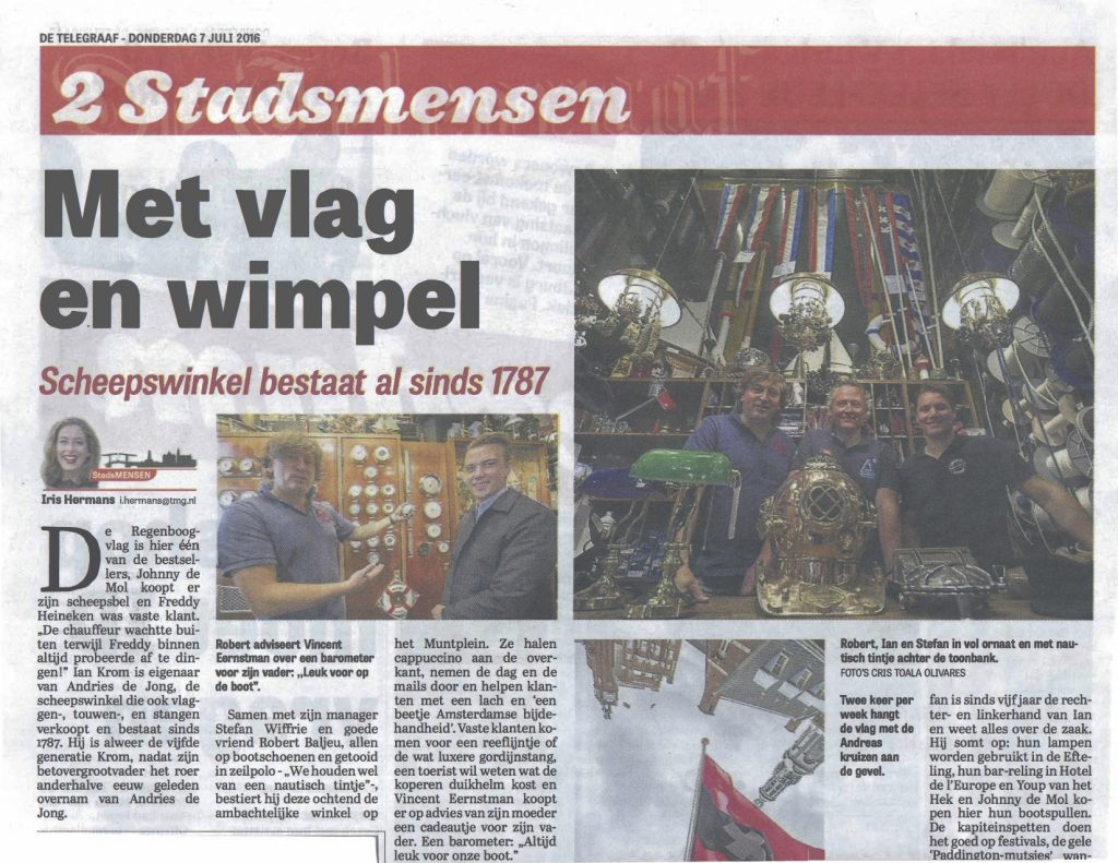 Met Vlag en Wimpel - Andries de Jong - Telegraaf kopie